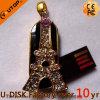 Memoria Flash promozionale del USB del regalo di cristallo della Torre Eiffel