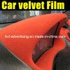 Пленка обруча автомобиля ткани бархата нутряная