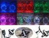 A corda da roda do raio da bicicleta do diodo emissor de luz do USB ilumina 2015