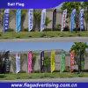 100% Polyester-kundenspezifische fördernde Ereignismarke-Fahne, Bildschirmanzeige-Feder-Fahnen