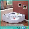 Vasca da bagno d'angolo di massaggio con la cascata americana (CDT-004)