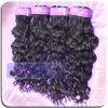 Curl italiano natural Peruvian Virgin Human Hair Weave para o salão de beleza