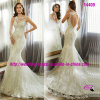 Сексуальное Noble Mermaid Open Back Dress Wedding с Round Neckline