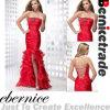 Vestidos de noite formais dos vestidos nupciais da sereia vermelha sexy