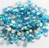중국 도매 유리제 다이아몬드 비 최신 고침 편평한 뒤 수정같은 돌 (FB-SS20 남옥 ab)