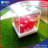 Rectángulo cuadrado del rectángulo de acrílico de la flor del regalo del día de tarjeta del día de San Valentín de las ventas del surtidor de China