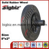 Sale caldo 8X2 Solid Rubber Wheel con Plastic Hub
