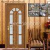 Дверь WPC, нутряная деревянная дверь, пластичный профиль, пленка PVC, окно