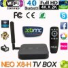 Caja androide determinada 2016 de la base 2.0GHz Media Player 4k2k 2g/16g 2.4G/TV del patio de Xbmc Kodi Amlogic S802-H de la caja del androide 4.4 neos TV de Minix X8-H X8 H