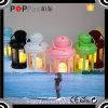 Stern Pantern bunte Auswahl, die LED-Kerze-Lampen-Dekoration hängt