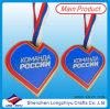 Medalla dura del maratón del esmalte de la forma del corazón