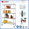A classe comercial da cremalheira do armazenamento das séries do NSF 5, metal submete o Shelving