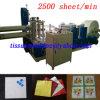 Prix automatique à grande vitesse gravant en refief de machine de serviette de papier d'impression de 2500 feuilles/de conception de l'Italie plate-formes de la minute 2