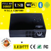 Proyector androide del DLP LED777 WiFi Bluetooth del DLP 0.45tp