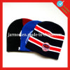 Jacquard Football Team Beanie Hat com bola