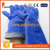 Ddsafety 2017 guanti spaccati di sicurezza del guanto di saldatura di cuoio della mucca blu