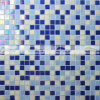 pared de fusión D&eacute de la mezcla azul de 15X15m m; Azulejo de mosaico de cristal del corazón (BGC021)