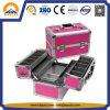 Moderne Aluminiumverfassungs-kosmetischer Kasten mit Tellersegmenten (HB-3210)