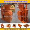 Chinesische Minihalb automatische hydraulische sperrende Block-Lehm-Ziegelstein-Maschine