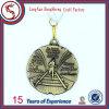 旧式な青銅色の苦闘するメダルはメダルを遊ばす