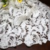 Telas químicas del cordón del bordado floral para las ropas