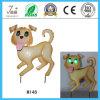 Estatuilla del perro, artes animales solares, decoración del jardín del perro del hierro