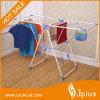 Cremalheira de múltiplos propósitos Foldable revestida do secador de roupa do pó com cremalheira Jp-Cr109PS da sapata