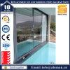 Porte en verre de glissement en aluminium isolée par interruption thermique de bonne qualité