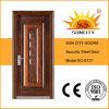中国の金属の銅の鋼鉄ドア、外部の鋼鉄ドア(SC-S137)