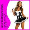 Dress extravagante Sexy Maid francês Costume para Party