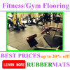 500x500mm entrelazan alfombras de goma de goma para la gimnasia