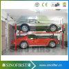 Elevación eléctrica resistente hidráulica del coche del estacionamiento de 4 postes