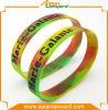 Wristband personalizzato del silicone di colore del Rainbow