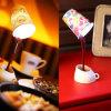 Lámpara de la mesa de centro de DIY