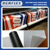 Bandeira solvente parte traseira de Frontlit do cabo flexível do PVC dos media branca/preto