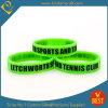 Bracelet en caoutchouc de silicone de tennis vert fluorescent en gros (LN-051)