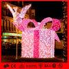 LED 크리스마스 불빛 주제 PVC 화환 주제 선물 상자
