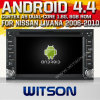 日産Livana (W2-A9000N)のためのWitson Android 4.4 System Car DVD