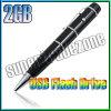 2 bolígrafo de destello del palillo del indicador del laser de la impulsión 2GB del USB 2.0 del GB