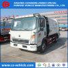 HOWO 4X2 8m3 쓰레기 쓰레기 압축 분쇄기 트럭 5tons 폐기물 수집가 트럭