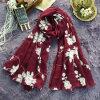 Écharpe 100% du coton de Madame imprimée par fleur bon marché en gros de mode
