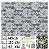 De geverfte Elastische Stof van het Kant met de Stof M9039 van het Kant van het Kasjmier van de Polyester
