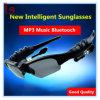 Esporte estereofónico inteligente dos auriculares dos telefones móveis de Bluetooth MP3 que conduz óculos de sol