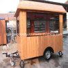 クレープのトラックのキオスクのホットドッグのハンバーガードーナツ移動式人力車の食糧カート