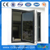 Ventana plegable de aluminio ahorro de energía de la rotura termal