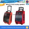 Altavoz portable tricolor 50W de Ms-6t con la radio sin hilos de Micro/FM, acceso de la carga de la tarjeta de USB/SD