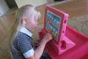 iPadの小型言語選択フランス語(KP-18-TP-120)のためのハンドルとの場合