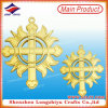 ItalienChristian Religious Medals Cross Gold Medallion Hollow Medal Metal Emblem Pin Badge mit Sicherheitsnadel (LZY-00020130057)