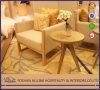 Modern 알루미늄 0508 Oak 아시아 Solid Wood White Leather Simplify 힐튼 호텔 Furniture 거실 One Seat Sofa 또는 Leisure Chair