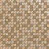 5/8X5/8  Rough Brown Glass Tile Wall Mosaic